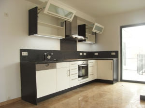 Küche anthrazit und weiss